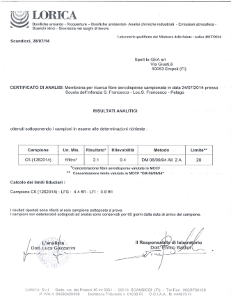Certificato Analisi Ambientale MOCF (File pdf - 354KB)