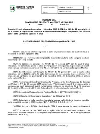 DECRETO DEL - Protezione Civile