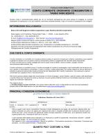 conto corrente ordinario consumatori a tasso indicizzato