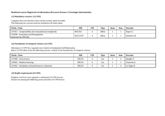 (1) Mandatory courses (12 CFU) - Università degli Studi di Trento