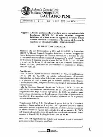 421 - Istituto Ortopedico Gaetano Pini