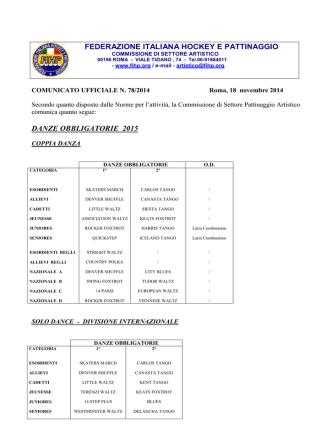 Danze Obbligatorie - Federazione Italiana Hockey e Pattinaggio