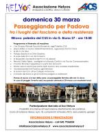 Passeggiando per Padova itinerario