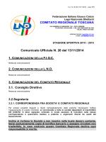 C.U. n.26 - Figc - Comitato Regionale Toscana