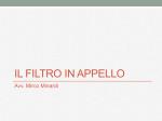 IL FILTRO IN APPELLO - Fondazione Forense Pesaro