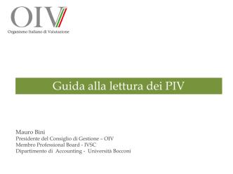 Bozza PIV