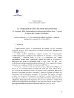 La tutela multilivello dei diritti fondamentali