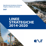 Linee strategiche 2014-2020 - DIST Dipartimento Interateneo di