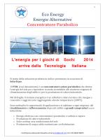 Eco Energy Energie Alternative Concentratore - Maroc