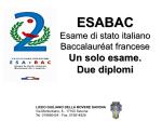 Esabac - LICEO GIULIANO DELLA ROVERE SAVONA