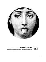 """""""Io sono cultura"""" - Rapporto 2014"""