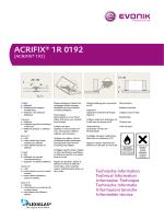 ACRIFIX® 1R 0192 - Röhm Schweiz AG