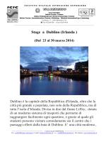 Stage a Dublino (Irlanda ) - istituto statale istruzione superiore