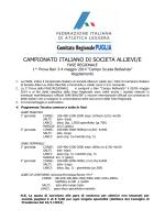 CAMPIONATO ITALIANO DI SOCIETÀ ALLIEVI/E