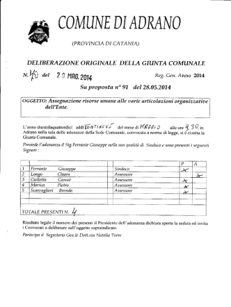 delgm.70 - Comune di Adrano