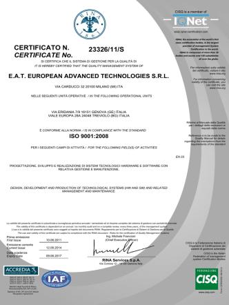 23326/11/S CERTIFICATE No. CERTIFICATO N.