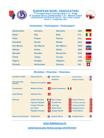 EUROPEAN BOWL ASSOCIATION - bocciofila pro ticino zurigo