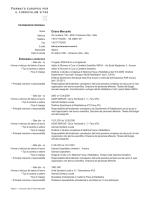 Curriculum vitae - Dottore Oriano Mercante