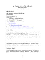 Curriculum Prof. Filippi - Università degli Studi di Brescia