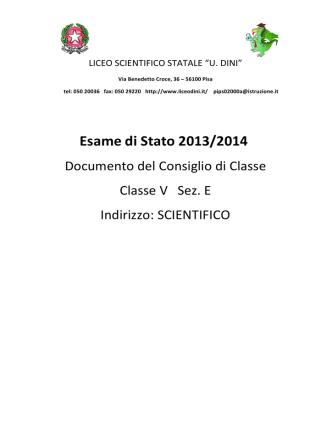 5 E - Liceo Scientifico Ulisse Dini