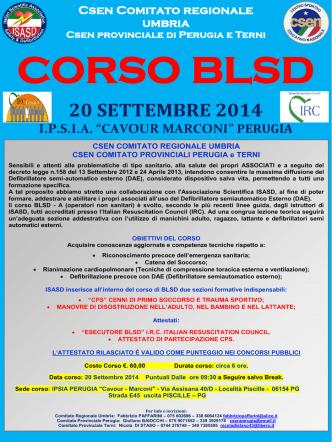CORSO BLSD CSEN UMBRIA ok! 20.9.2014