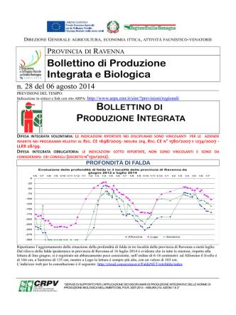 Bollettino tecnico n. 28 del 06 agosto 2014