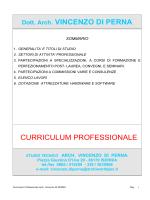 Curriculum - Comune di Monteroduni
