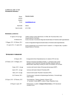 CV Claudia Palumbo 2014 - Coordinamento Nazionale Giovani