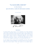 """""""La teoria della relatività"""" di Albert Einstein"""