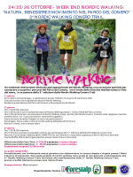 24/ 25/ 26 OTTOBRE - WEEK END NORDIC WALKING: