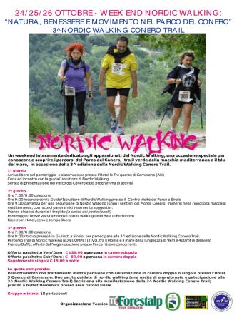 24/ 25/ 26 OTTOBRE - WEEK END NORDIC WALKING:
