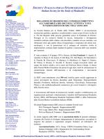 Relazione di Missione SISC 2013