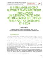 il sistema della ricerca biomedica transfrontaliera italo