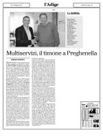 Multiservizi, il timone a Preghenella