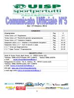 Comunicato Ufficiale n.5 del 15 Ottobre (pdf)