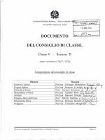 """documento del 15 maggio - liceo scientifico """"tito lucrezio caro"""""""