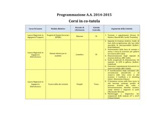 Attività didattiche A.A. 2014/2015