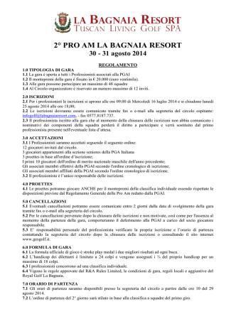 2° PRO AM LA BAGNAIA RESORT