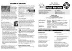Parish Newsletter - Our Lady Help of Christians