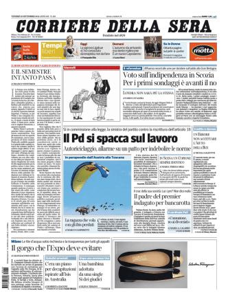 Corriere della sera - 19.09.2014