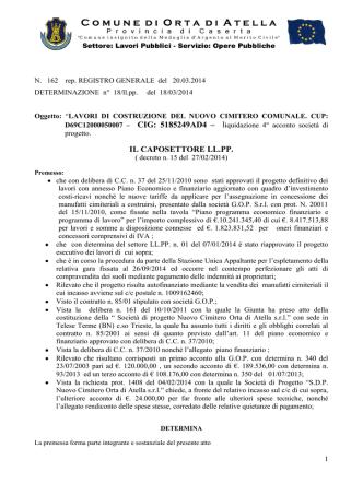 BOZZA di DELIBERA - Comune di Orta di Atella
