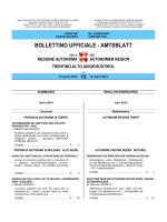 Bollettino n. 15 del 14 aprile 2014 - Regione Autonoma Trentino Alto