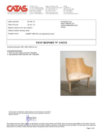 albertone test catas - Accento Italian Contract Seatings