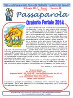 Passaparola 8 giugno 2014