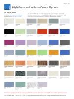 Print HPL colour Options