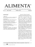 Articolo pubblicato dal prof. Silano sulla rivista Alimenta (N° 10 anno