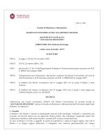 D.R. n. 1961 Facoltà di Medicina e Odontoiatria BANDO