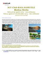 IGV Club BAIA SAMUELE Modica /Sicilia Dal 23 al 30