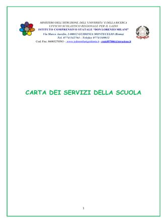 carta dei servizi - Istituto Comprensivo Statale