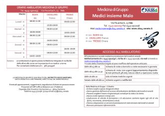 carta servizi medici insieme malo 222